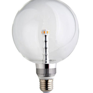 LED Λάμπα E27 G125 BIG LED Clear