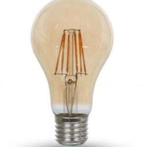 LED Λάμπα E27 RETRO FILAMENT VINTAGE ΔΙΑΚΟΣΜΗΤΙΚΗ Amber Cover