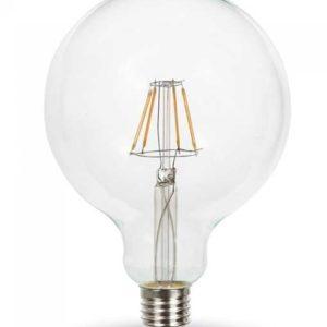 LED Λάμπα E27 Filament Διακοσμητική V-TAC G125