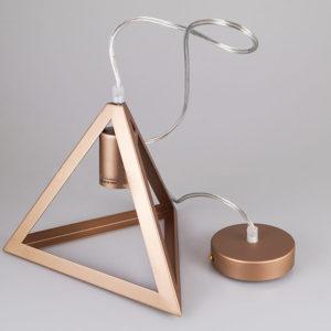 Κρεμαστό Φωτιστικό Οροφής Μεταλλικό Μονόφωτο E27 Πυραμίδα Σαμπανιζέ V-TAC 3831