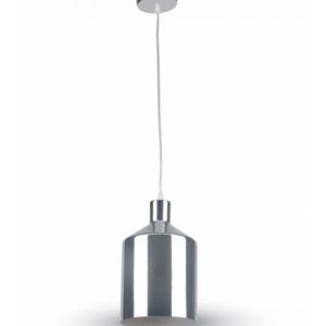Κρεμαστό Φωτιστικό Οροφής Μονόφωτο E27 ø170 Χρώμιο V-TAC