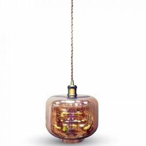 Κρεμαστό Φωτιστικό Οροφής Μονόφωτο E27 ø250 Γυάλινο Amber Cover V-TAC