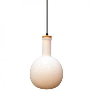 Κρεμαστό Φωτιστικό Οροφής Μονόφωτο E27 ø260 Γυάλινο Amber Cover V-TAC