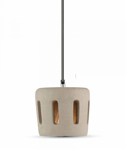 Κρεμαστό Φωτιστικό Οροφής Μονόφωτο E27 Τσιμέντο Γκρι V-TAC
