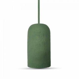 Κρεμαστό Φωτιστικό Οροφής Μονόφωτο E27 Τσιμέντο Πράσινο V-TAC