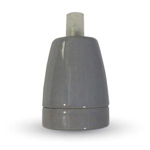 Ντουί E27 Πορσελάνη Γκρι V-TAC