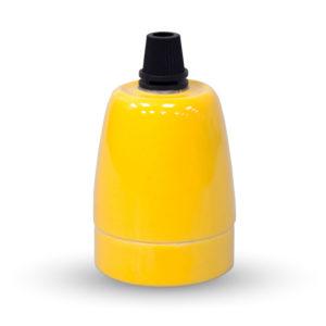Ντουί E27 Πορσελάνη Κίτρινο V-TAC