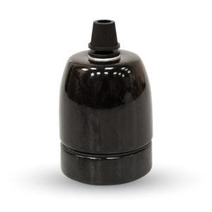 Ντουί E27 Πορσελάνη Μαύρο V-TAC
