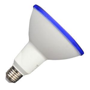 LED ΛΑΜΠΑ E27 PAR 38-ΜΠΛΕ ΑΔΙΑΒΡΟΧΗ IP65 V-TAC BLUE