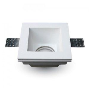 Γύψινη Βάση Σποτ GU10 V-TAC Χωνευτή Τετράγωνη Λευκή