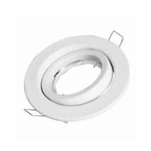 Βάση Σποτ GU10 - MR16 V-TAC Χωνευτή Ρυθμιζόμενη Στρογγυλή Λευκή