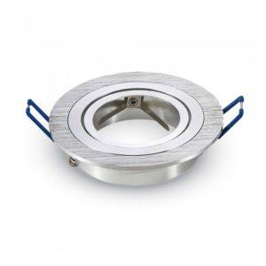 Βάση Σποτ GU10 - MR16 V-TAC Χωνευτή Στρογγυλή Αλουμίνιο Ζαγρέ