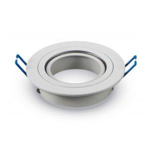 Βάση Σποτ GU10 - MR16 V-TAC Χωνευτή Στρογγυλή Λευκή
