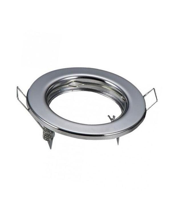 Βάση Σποτ GU10 - MR16 V-TAC Χωνευτή Στρογγυλή Χρώμιο
