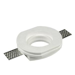 Γύψινη Βάση Σποτ GU10 V-TAC Χωνευτή Κυκλική Λευκή