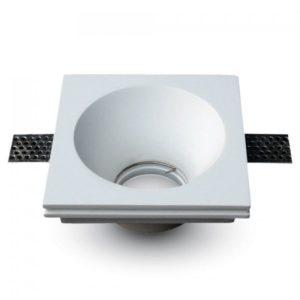 Γύψινη Βάση Σποτ GU10 V-TAC Χωνευτή Τετράγωνη Λευκή ... 43f93de2e4b