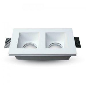Διπλή Γύψινη Βάση Σποτ GU10 V-TAC Χωνευτή Λευκή ... 422feaec17d