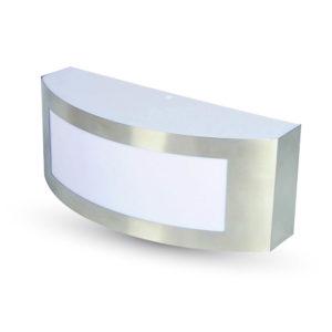 Επιτοίχιο Φωτιστικό LED Απλίκα E27 Ασημί ΙP44 Ανοξείδωτο Ατσάλι V-TAC