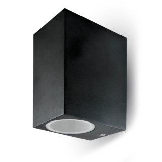 Επιτοίχιο Φωτιστικό LED 2xGU10 Μαύρο ΙP44 Αλουμίνιο V-TAC