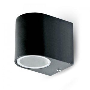 Επιτοίχιο Φωτιστικό LED GU10 Μαύρο ΙP44 Αλουμίνιο V-TAC