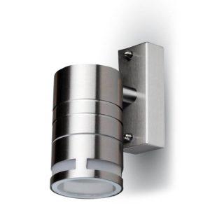 Επιτοίχιο Φωτιστικό LED GU10 Χρώμιο ΙP44 Ανοξείδωτο Ατσάλι V-TAC