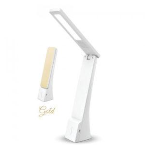 Επιτραπέζιο Φωτιστικό Γραφείου LED 4W Μεταβαλλόμενου Χρώματος και Φωτεινότητας V-TAC Dimmable Λευκό - Χρυσό