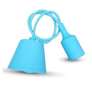 Κρεμαστό Φωτιστικό Οροφής Μονόφωτο E27 Σιλικόνης Γαλάζιο V-TAC