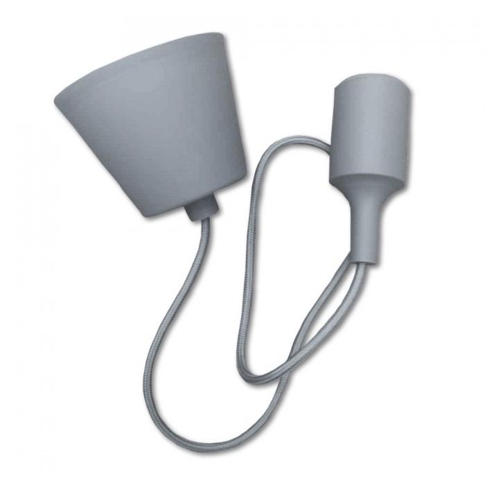 Κρεμαστό Φωτιστικό Οροφής Μονόφωτο E27 Σιλικόνης Γκρι V-TAC