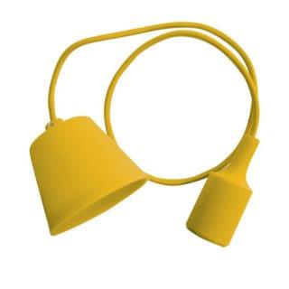 Κρεμαστό Φωτιστικό Οροφής Μονόφωτο E27 Σιλικόνης Κίτρινο V-TAC