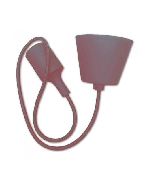 Κρεμαστό Φωτιστικό Οροφής Μονόφωτο E27 Σιλικόνης Καφέ V-TAC
