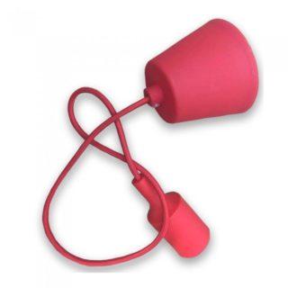 Κρεμαστό Φωτιστικό Οροφής Μονόφωτο E27 Σιλικόνης Κόκκινο V-TAC