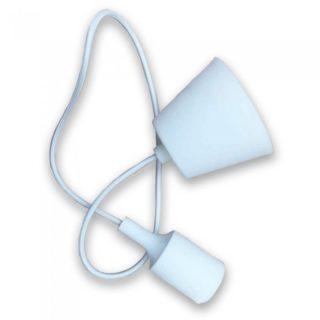 Κρεμαστό Φωτιστικό Οροφής Μονόφωτο E27 Σιλικόνης Λευκό V-TAC