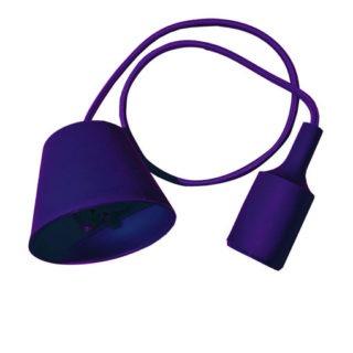Κρεμαστό Φωτιστικό Οροφής Μονόφωτο E27 Σιλικόνης Μωβ V-TAC