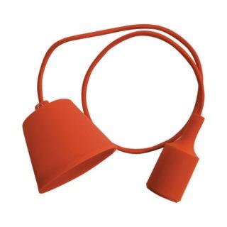Κρεμαστό Φωτιστικό Οροφής Μονόφωτο E27 Σιλικόνης Πορτοκαλί V-TAC