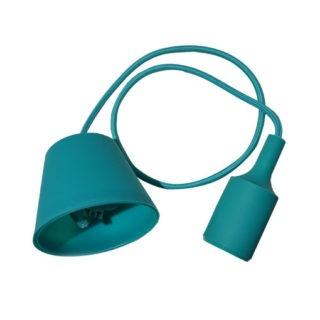 Κρεμαστό Φωτιστικό Οροφής Μονόφωτο E27 Σιλικόνης Πράσινο V-TAC