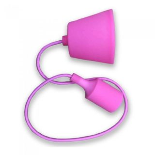 Κρεμαστό Φωτιστικό Οροφής Μονόφωτο E27 Σιλικόνης Ροζ V-TAC