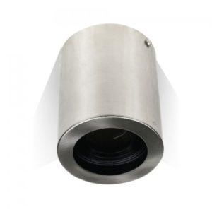 Φωτιστικό - Βάση Σποτ GU10 V-TAC Εξωτερική Στρογγυλή Νίκελ