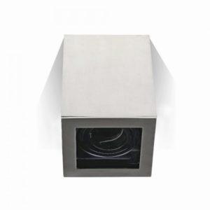 Φωτιστικό - Βάση Σποτ GU10 V-TAC Εξωτερική Τετράγωνη Νίκελ
