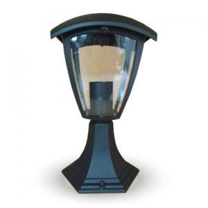 Επιδαπέδιο Φωτιστικό Κήπου Φαναράκι E27 IP65 Αλουμίνιο - Γυαλί Μαύρο V-TAC