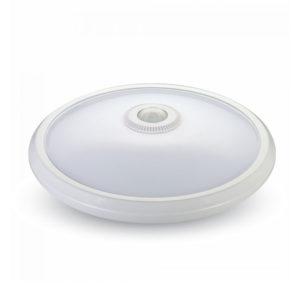 LED Φωτιστικό Απλίκα με Αισθητήρα Υπερύθρων 12W V-TAC Στρογγυλό Λευκό Αδιάβροχο IP65