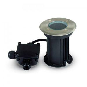 LED Φωτιστικό Κήπου GU10 Χωνευτό Μαύρο Αδιάβροχο IP65 INOX V-TAC