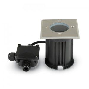 LED Φωτιστικό Κήπου GU10 Χωνευτό Μαύρο Τετράγωνο Αδιάβροχο IP65 Ατσάλι V-TAC
