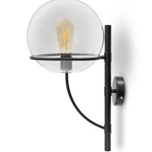 Φωτιστικό Τοίχου Απλίκα E27 ø210mm Γυάλινος Γλόμπος Διάφανος V-TAC