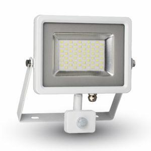 LED Προβολέας με Ανιχνευτή 10W V-TAC Λευκός IP44 SMD Θερμό Λευκό 3000K