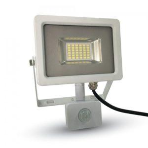 LED Προβολέας με Ανιχνευτή 20W V-TAC Λευκός Αδιάβροχος IP65 SMD