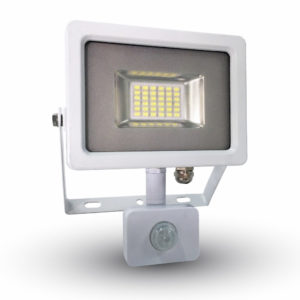LED Προβολέας με Ανιχνευτή 30W V-TAC Λευκός Αδιάβροχος IP65 SMD Φυσικό Λευκό 4500K