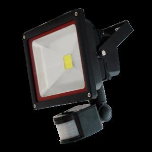 LED Προβολέας με Ανιχνευτή 30W V-TAC Μαύρος IP20 SMD Θερμό Λευκό 3000K