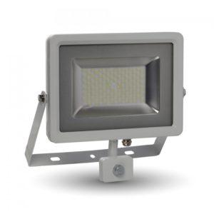 LED Προβολέας με Ανιχνευτή 50W V-TAC Λευκός IP44 SMD Θερμό Λευκό 3000K