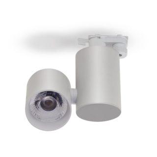 LED Μονοφασικό Φωτιστικό Ράγας 15W V-TAC Άσπρο Περιστρεφόμενο Θερμό Λευκό 3000K - 1298
