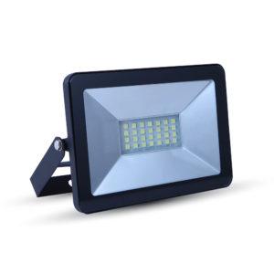 LED Προβολέας 10W V-TAC Μαύρος Αδιάβροχος IP65 SMD Θερμό Λευκό 3000K 5875-5876-5877